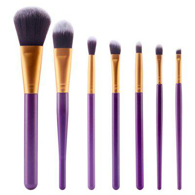 Buy PURPLE Stylish 7 Pcs Plastic Handle Nylon Face Eye Makeup Brushes Set for $6.73 in GearBest store