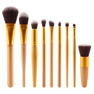 Stylish 9 Pcs Nylon Face Eye Lip Makeup Brushes Set