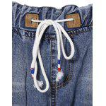 Chic Drawstring Broken Hole Pocket Design Women's Jeans deal