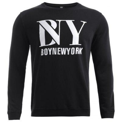 BoyNewYork Solid Color Long Sleeves Sweatshirt
