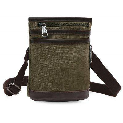 Simple Splicing and Zipper Design Messenger Bag For Men