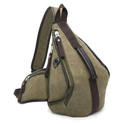 Buy KHAKI Casual Zippers and Color Splicing Design Messenger Bag For Men for $21.62 in GearBest store