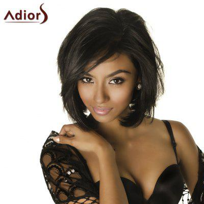 Adiors Charming Short Straight Dark Brown Side Parting Women's Synthetic Hair Wig