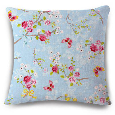 Fresh Style Home Decor Flowerlet Butterfly Insect Pattern  Pillow Case