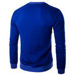 Buy Letter Print Crew Neck Long Sleeve Pullover Sweatshirt Men M SAPPHIRE BLUE