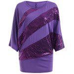 Buy PURPLE, Apparel, Women's Clothing, Blouses for $13.12 in GearBest store