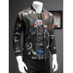 Chic Butterflies Print Baseball Collar Long Sleeve Camo Bomber Jacket For Men deal