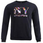 BoyNewYork Butterfly Printed Long Sleeves Sweatshirt - NOIR