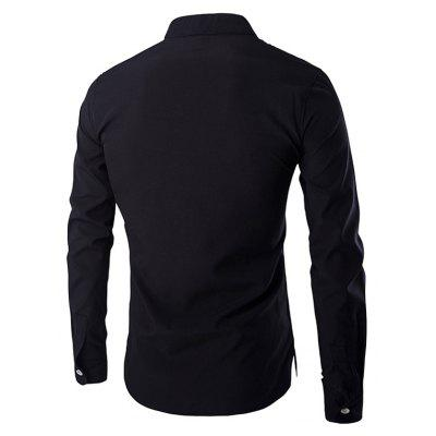 Mandarin Collar Long Sleeve Slim Fit ShirtMens Shirts<br>Mandarin Collar Long Sleeve Slim Fit Shirt<br><br>Collar: Mandarin Collar<br>Material: Cotton Blends<br>Package Contents: 1 x Shirt<br>Shirts Type: Casual Shirts<br>Sleeve Length: Full<br>Weight: 0.205kg