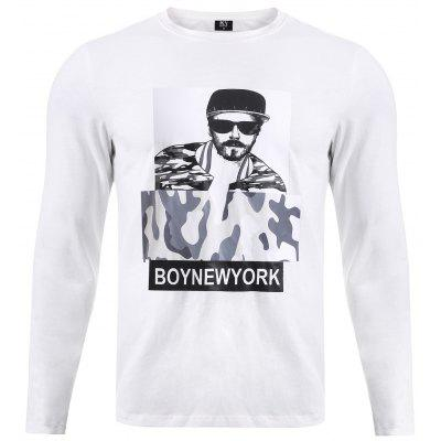 BoyNewYork 3D Figure Camo Pattern Long Sleeves T-Shirt