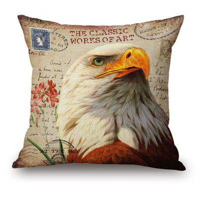 Vintage Throw Cushion Bird Pattern Sofa Pillow Case