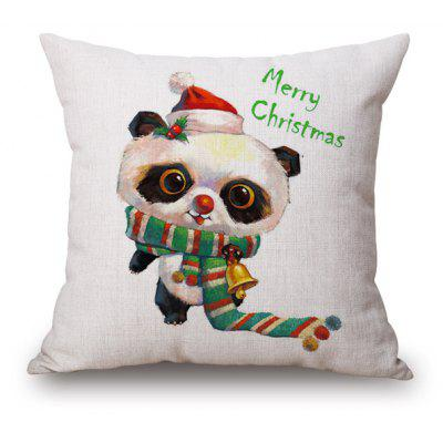 Cartoon Panda Merry Christmas Cushion Cover Pillow Case