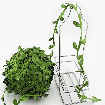 Exquisite DIY 10 Meter Green Rattan Leaf Room Decoration Artificial Flower