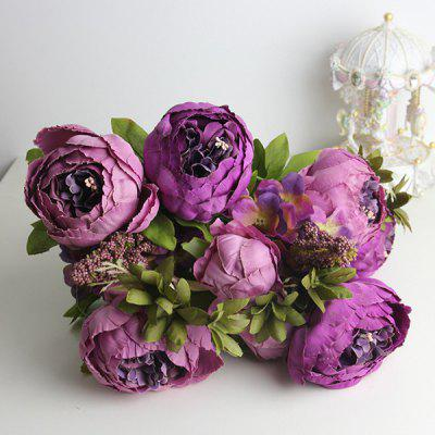 High Quality A Bouquet of Living Room Decoration Artificial Peony