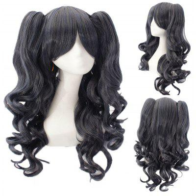 Fashion Mixed Color Long Wavy Side Bang with Bunches Lolita Synthetic Wig