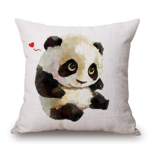 Panda Animal Print Home Decor Linen Pillow Case