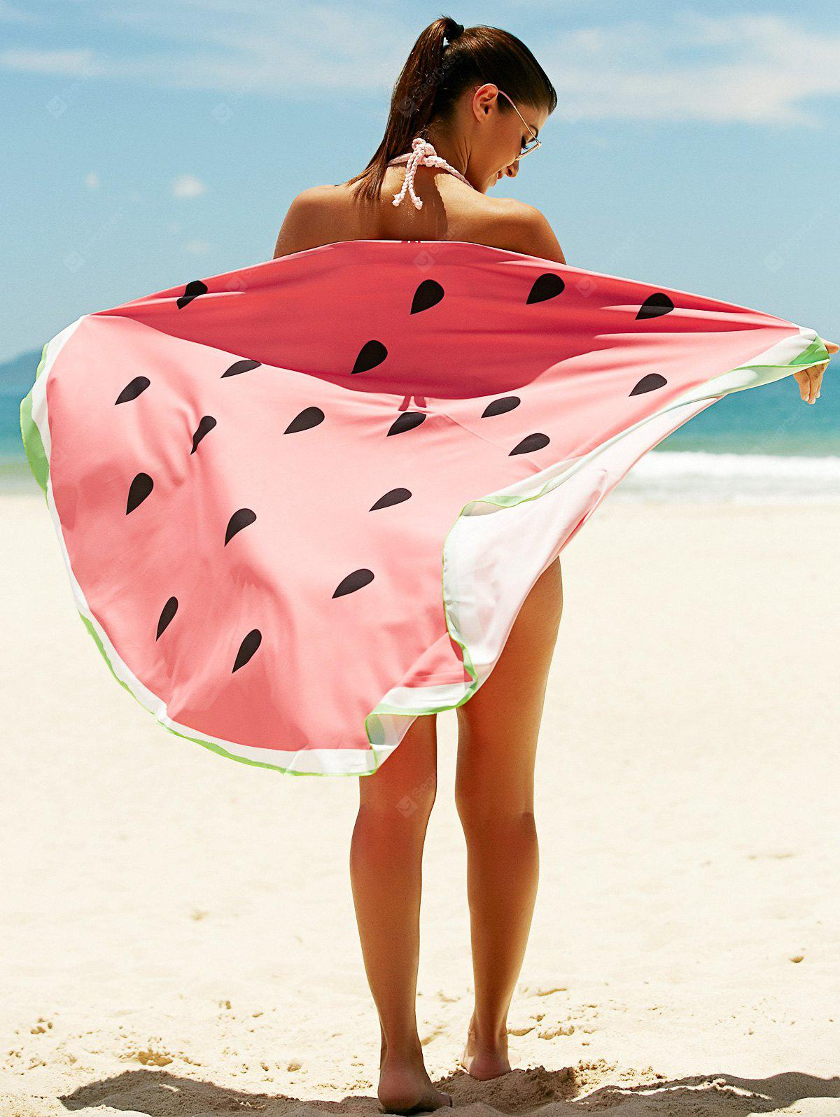 Watermelon Pattern Sun Resistant Cover Up