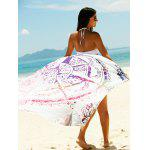 Printed Sun Resistant Beach Sarong Cover Up - COLORMIX