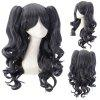 Fashion Mixed Color Long Wavy Side Bang with Bunches Lolita Synthetic Wig - COLORMIX