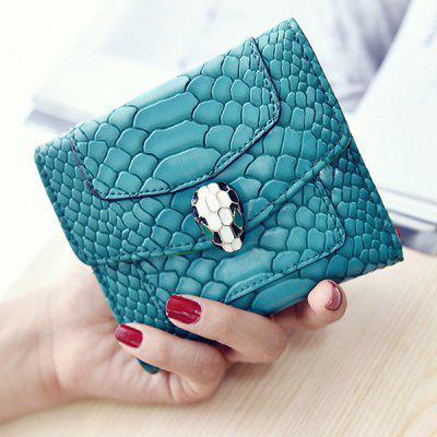 Stylish Solid Color and Embossing Design Wallet For Women