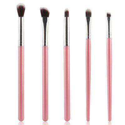 Stylish 5 Pcs Portable Nylon Eye Makeup Brushes Set