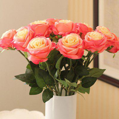 A Bouquet of Graceful Home Decor Artificial Rose Flower