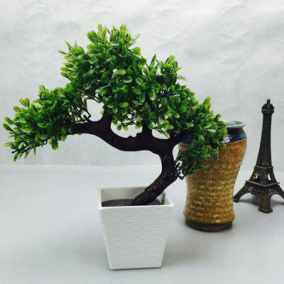 Stylish Home Decor Fake Miniascape Evergreen Tree Artificial Flower