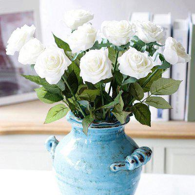 1 Bouquet of Elegant Home Decoration Touch Artificial Rose Flower