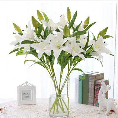 A Bouquet of Delicate 3 Head PU Artificial Lily Flower Home Decorative