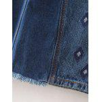 best Fashion Embroidery Side Slit Denim A Line Skirt For Women