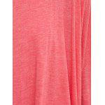 Asymmetrical Cut Out Solid Color T-Shirt - WATERMELON RED