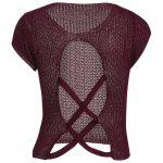 Jewel Neck Cross Back Jumper - DARK RED