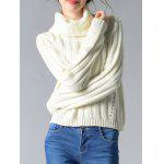 cheap Turtleneck Long Sleeve Knit Sweater