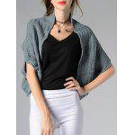 Trendy Collarless Button Design Solid Color Women's Cardigan - LIGHT BLUE