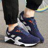 Fashionable Color Splicing and Suede Design Athletic Shoes For Men - DEEP BLUE