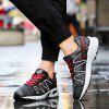 Fashion Color Splicing and Breathable Design Athletic Shoes For Men - BLACK