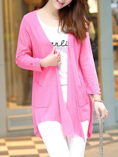 Buy Long Sleeve Candy Color Thin Cardigan L ROSE MADDER