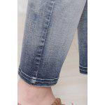 Ombre Color Straight Ankle Jeans for sale