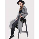Stand Collar Loose-Fitting Trench Coat - GRAY
