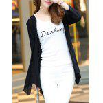 Buy Long Sleeve Candy Color Thin Cardigan M BLACK