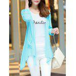 Buy Long Sleeve Candy Color Thin Cardigan M LIGHT BLUE