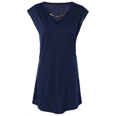 Hollow Out Summer Casual Dress With Sleeves