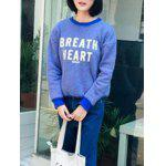 cheap Stylish Round Neck Long Sleeve Letter Printed Fleece Women's Sweatshirt