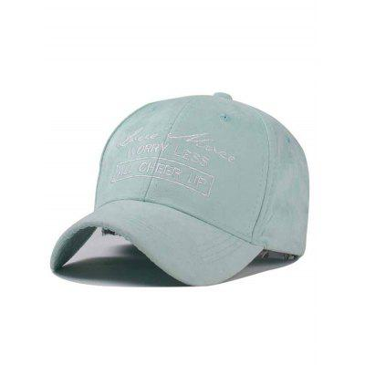 Stylish Handwritten Letter Embroidery Faux Suede Baseball Hat
