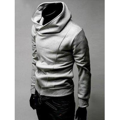 IZZUMI Side Zip Up Long Sleeve Neck HoodieMens Hoodies &amp; Sweatshirts<br>IZZUMI Side Zip Up Long Sleeve Neck Hoodie<br><br>Material: Cotton Blends<br>Package Contents: 1 x Hoodie<br>Shirt Length: Regular<br>Sleeve Length: Full<br>Style: Casual<br>Weight: 0.4270kg