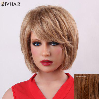 Buy AUBURN BROWN Fluffy Short Layered Siv Hair Trendy Natural Straight Capless Human Hair Wig For Women for $71.69 in GearBest store