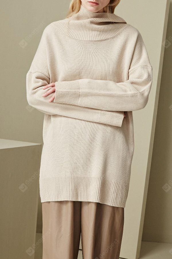 Camel Cowl Neck Drop Shoulder Sleeve Sweater - $226.76 Free ...