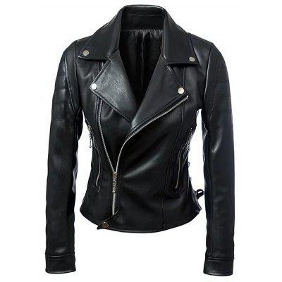 Punk Faux Leather Biker Jacket