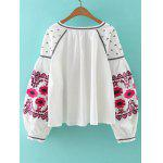 Buy Bohemian Style Embroidery Lace Jacket S WHITE