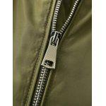 Patch Embellished Bomber Jacket - ARMY GREEN
